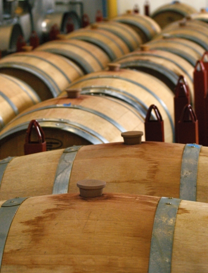 Tassel Ridge Winery Barrels