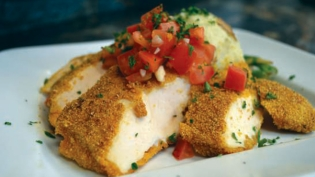 Bata's Cornmeal Crusted Chicken with Toasted Corn Salsa